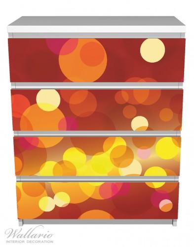 Möbelfolie Rote, gelbe und orange Kreise - harmonisches Muster – Bild 2