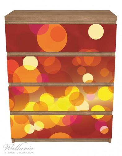 Möbelfolie Rote, gelbe und orange Kreise - harmonisches Muster – Bild 3
