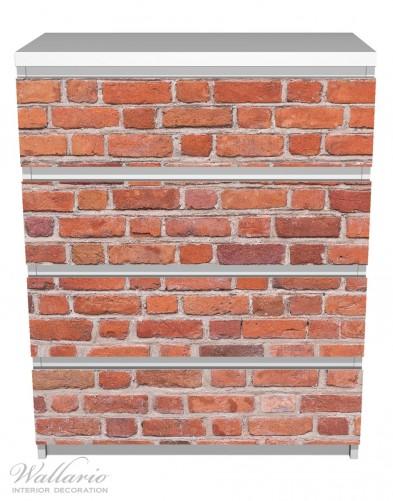 Möbelfolie Rote Ziegelsteinwand - Backsteine – Bild 2