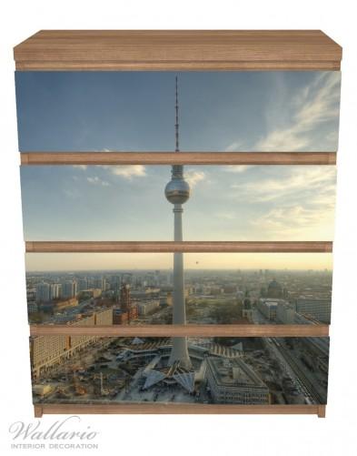 Möbelfolie Fernsehturm Berlin mit Panoramablick über die Stadt – Bild 3