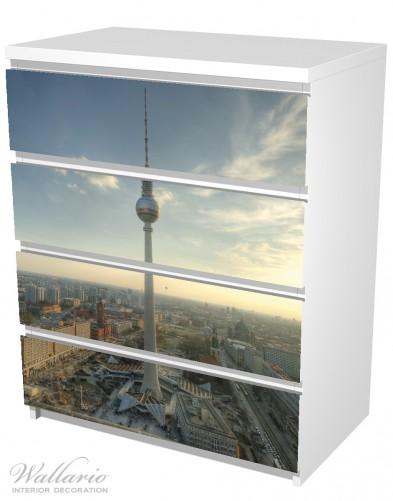 Möbelfolie Fernsehturm Berlin mit Panoramablick über die Stadt – Bild 5