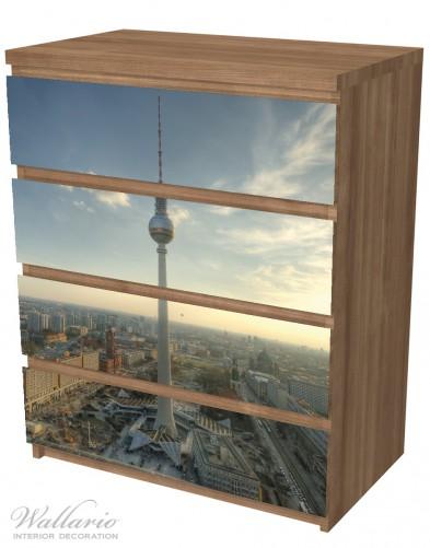 Möbelfolie Fernsehturm Berlin mit Panoramablick über die Stadt – Bild 6
