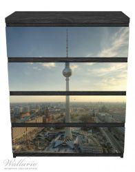 Möbelfolie Fernsehturm Berlin mit Panoramablick über die Stadt – Bild 1