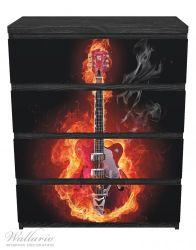 Möbelfolie Brennende Gitarre – Bild 1