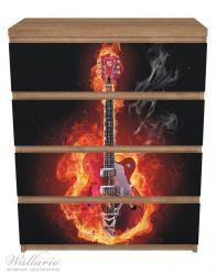 Möbelfolie Brennende Gitarre – Bild 3