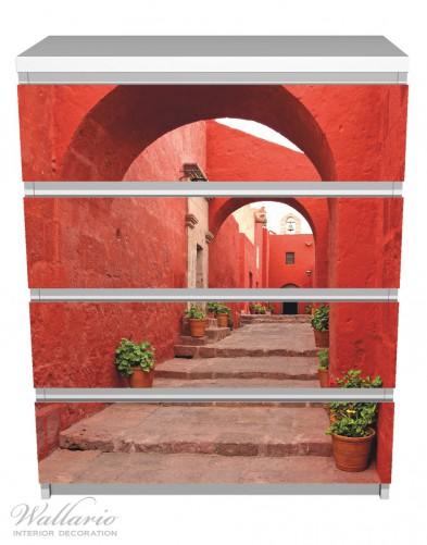 Möbelfolie Roter Torbogen – Bild 2