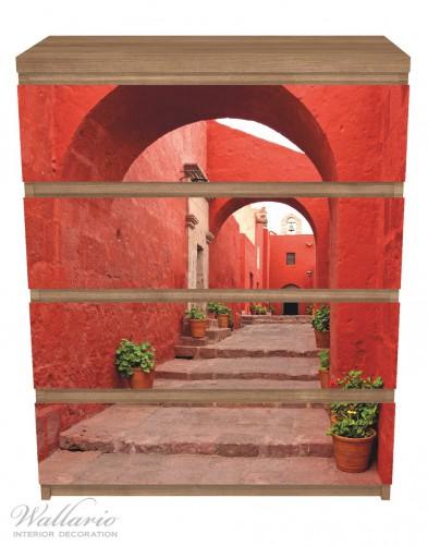 Möbelfolie Roter Torbogen – Bild 3