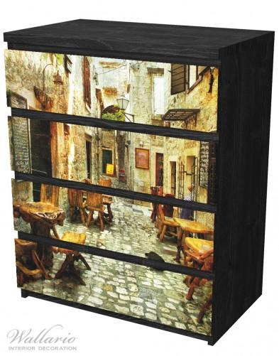 Möbelfolie Italienische kleine Gasse – Bild 4