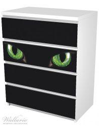 Möbelfolie Grüne Katzenaugen bei Nacht – Bild 5
