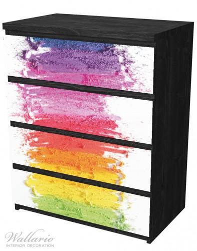 Möbelfolie Regenbogenstreifen auf weißem Hintergrund - Bunter Anstrich – Bild 4