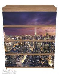 Möbelfolie New York bei Nacht - Panoramablick über die Stadt – Bild 3
