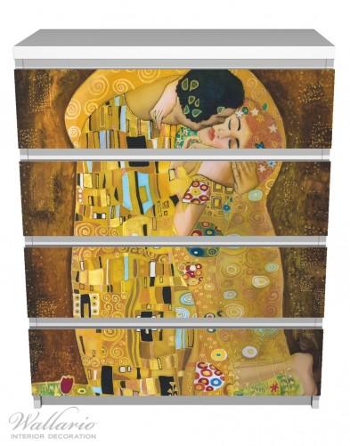 m belfolie der kuss von klimt ikea m belfolien malm 4 schubladen kunst musik. Black Bedroom Furniture Sets. Home Design Ideas