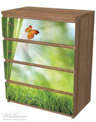 Möbelfolie Schmetterling im Grünen mit Bambus – Bild 6