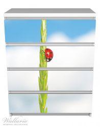 Möbelfolie Marienkäfer am Korn – Bild 2