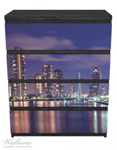 Möbelfolie Tokyo- Skyline bei Nacht – Bild 1