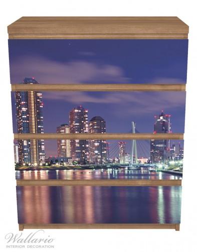 Möbelfolie Tokyo- Skyline bei Nacht – Bild 3