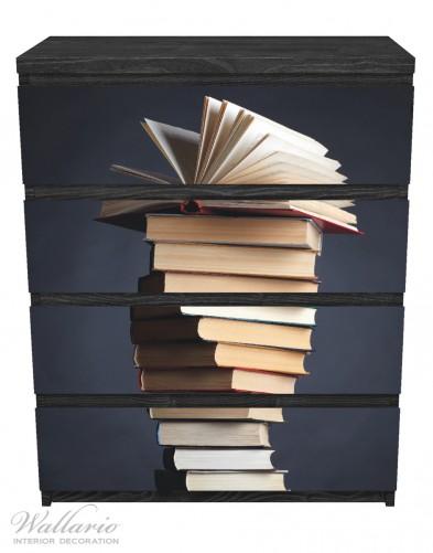 Möbelfolie Bücherstapel – Bild 1