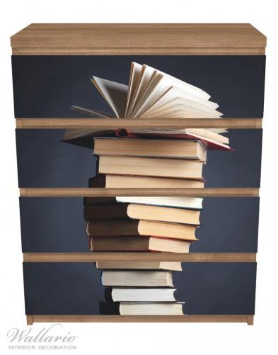 Möbelfolie Bücherstapel – Bild 3