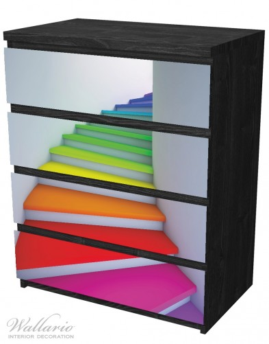Möbelfolie Bunte Treppe – Bild 4