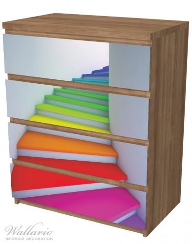 Möbelfolie Bunte Treppe – Bild 6