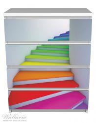Möbelfolie Bunte Treppe – Bild 2