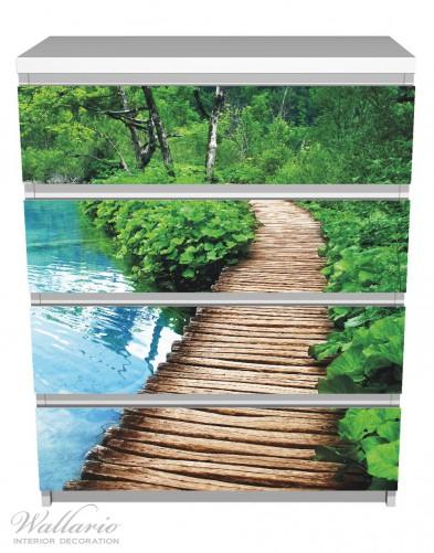 Möbelfolie Holzweg im Wald – Bild 2