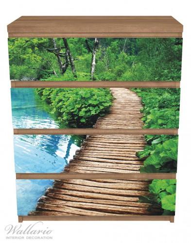 Möbelfolie Holzweg im Wald – Bild 3