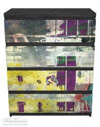 Möbelfolie Retro-Style lila-gelb – Bild 1