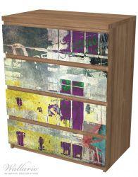 Möbelfolie Retro-Style lila-gelb – Bild 6
