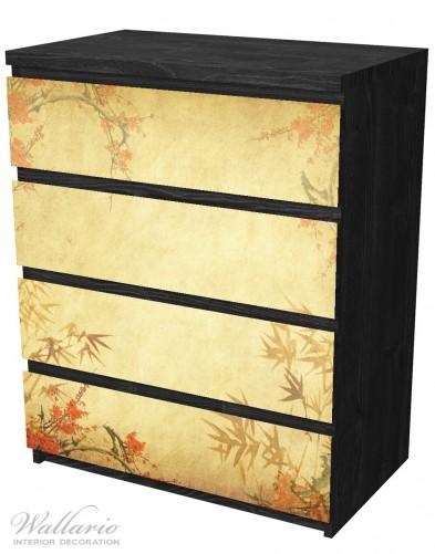 Möbelfolie Herbststimmung – alter Papyrus mit Herbstmotiven – Bild 4