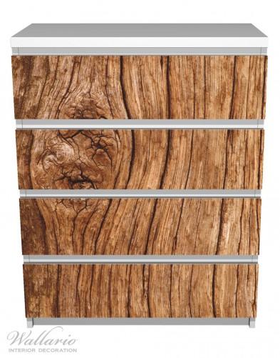 Möbelfolie Holzstamm mit Asteinschluss – Bild 2