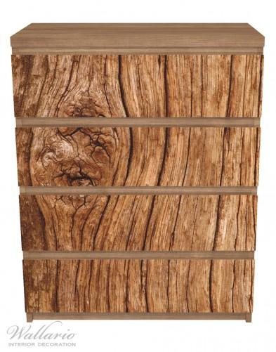 Möbelfolie Holzstamm mit Asteinschluss – Bild 3