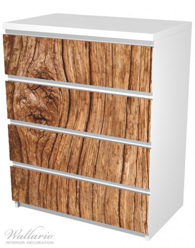 Möbelfolie Holzstamm mit Asteinschluss – Bild 5