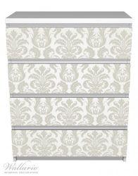 Möbelfolie Königliche Schnörkelei in weiß und beige – Bild 2