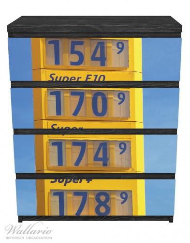 Möbelfolie Benzinpreistafel – Bild 1