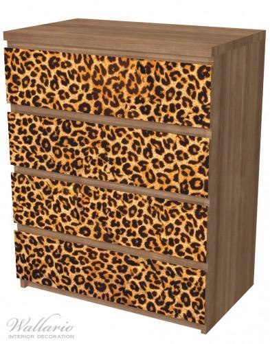 Möbelfolie Leopardenmuster, in orange schwarz – Bild 6