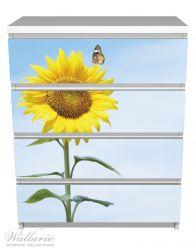 Möbelfolie Sonnenblume mit Schmetterling – Bild 2