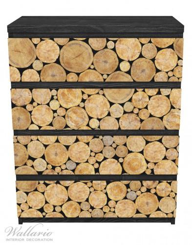 Möbelfolie Holzstapel rund – Bild 1