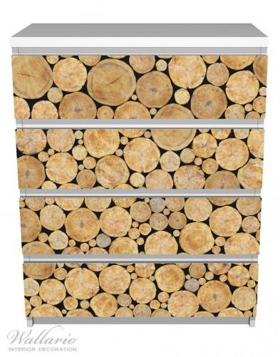 Möbelfolie Holzstapel rund – Bild 2