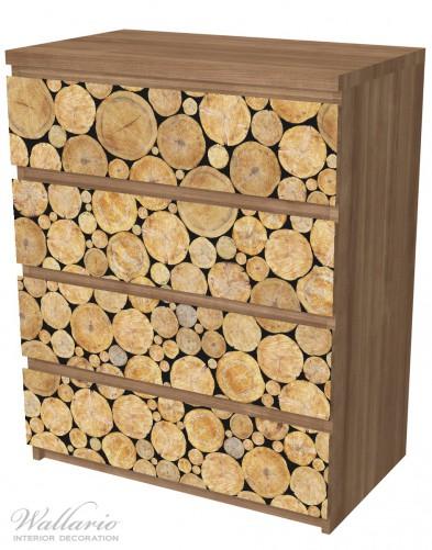 Möbelfolie Holzstapel rund – Bild 6