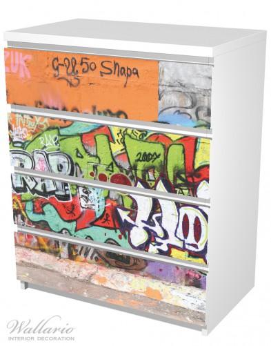 Möbelfolie RAP-Graffiti- Wand mit verschiedenen Tags – Bild 5