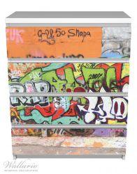 Möbelfolie RAP-Graffiti- Wand mit verschiedenen Tags – Bild 2