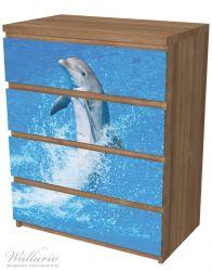 Möbelfolie Fröhlicher Delfin im blauen Wasser – Bild 6