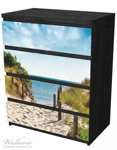 Möbelfolie Auf dem Sandweg zum Strand – Bild 4
