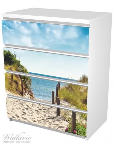 Möbelfolie Auf dem Sandweg zum Strand – Bild 5