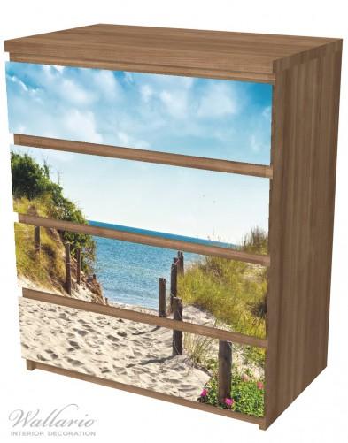 Möbelfolie Auf dem Sandweg zum Strand – Bild 6