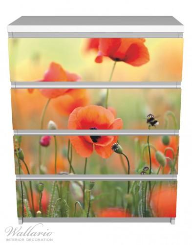 Möbelfolie Mohnblumenblüten – Bild 2