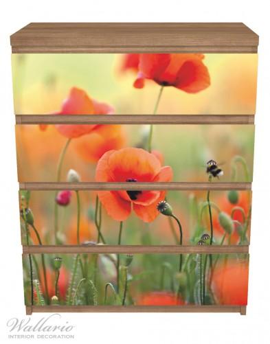 Möbelfolie Mohnblumenblüten – Bild 3