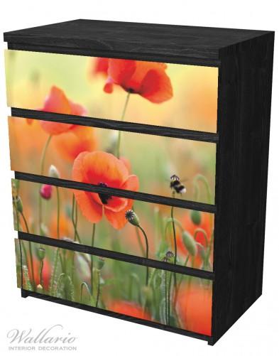 Möbelfolie Mohnblumenblüten – Bild 4