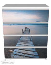 Möbelfolie Steg am See- Idylle bei Sonnenuntergang – Bild 2